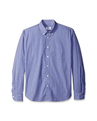 Brooklyn Tailors Men's Gingham Slim Fit Sport Shirt
