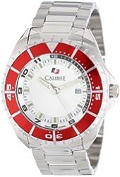 Calibre Men's SC-5S2-04-001.4 Sea Knight Round Stainless Steel Red Aluminum Bezel Luminous Date Watch