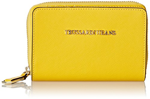 Trussardi Jeans Zip Around Medio, Levanto, Giallo, 14 cm