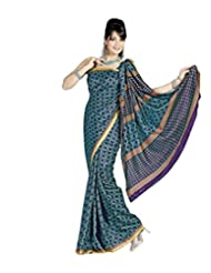 Meher Silk Goldern Border Saree (SD5225_Blue)