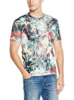 Mr. Gugu & Miss Go Camiseta Manga Corta Unisex Tropical Jungle (Verde / Multicolor)