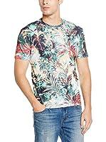 Mr. Gugu & Miss Go Camiseta Manga Corta Unisex Tropical Jungle (Verde / Multicolor)
