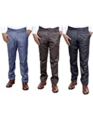 Indistar Combo Offer Mens Formal Trouser (Pack Of 3)