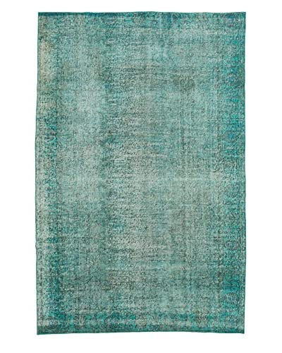 eCarpet Gallery One-of-a-Kind Hand-Knotted Color Transition Rug, Teal, 5' 5 x 8' 3