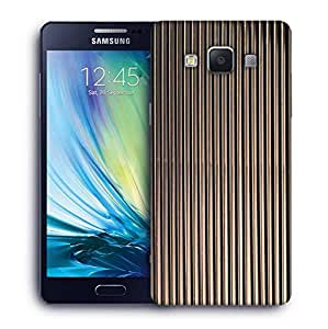 Snoogg Black Strips Printed Protective Phone Back Case Cover For Samsung Galaxy A5