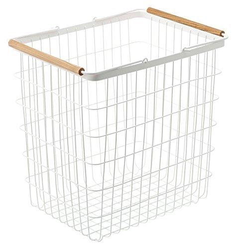 YAMAZAKI home 2810 12.2 x 16.3 in. Tosca Laundry Basket - Large, White by YAMAZAKI home