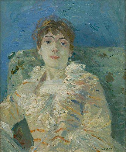 'Berthe Morisot Girl On A Divan ' Oil Painting, 16 X 19 Inch / 41 X 49 Cm ,printed On Polyster Canvas ,this Amazing Art Decorative Prints On Canvas Is Perfectly Suitalbe For Gym Artwork And Home Decoration And Gifts