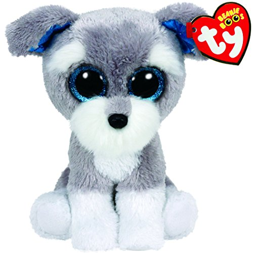 Ty Beanie Boos Whiskers The Grey Schnauzer Dog Plush - 1