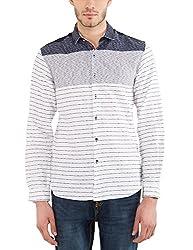 Locomotive Men's Casual Shirt (15110001471405_LMSH010646_S_White)