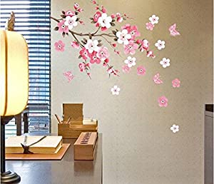 Plum blossom Vinyl Home decor Wall Art Decal Sticker by Beautymall