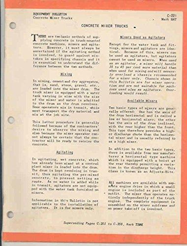 1955 ? Mack Concrete Mixer Truck Brochure Rex Ransome Jaeger Blaw Knox