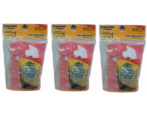 Eco-Save Cleaner in Eco-Friendly Pouch Trigger Spray Bottle w/ Wipes (3 pack)