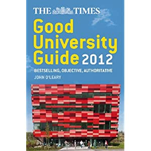 Image: Cover of The Times Good University Guide 2012