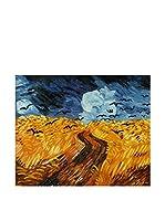 Arte Dal Mondo Pintura al Óleo sobre Lienzo Van Gogh Campo Di Grano Con Corvi
