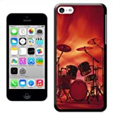 Fancy A Snuggle Rocking Rock Band Drum Set with Cymbals Hard Case Clip On Back Cover for Apple iPhone 5C
