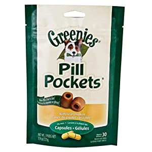 Greenies Pill Pockets, Chicken, 7.9 oz, for Capsules