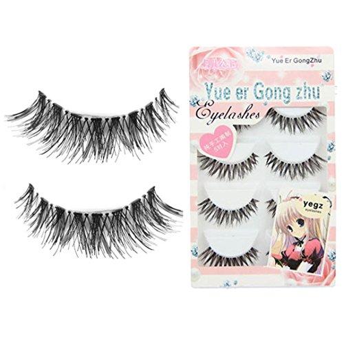 Susenstone Big sale! 5 Pair/Lot Crisscross False Eyelashes Lashes Voluminous HOT eye lashes