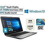 2017 New Edition HP 15.6'' HD Touchscreen High Performance Laptop PC, Intel 7th Gen Core I7-7500U 2.7GHz, 8GB...