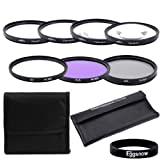 Eggsnow 67MM Professional Lens Filter Kit (UV, FLD, CPL) + Macro Close-Up Set (+1, +2, +4, +10) + 2 Carry Pouch for All 67mm Lenses Canon Rebel T5i T4i T3i T3 T2i, EOS 700D 650D 600D 550D 70D 60D 7D 6D DSLR Cameras with 18-135MM EF-S IS STM Zoom Lens