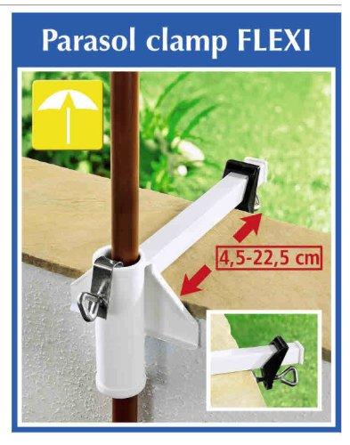 Steel Umbrella Railing Flexi Clamp