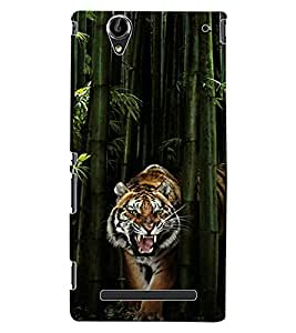 ColourCraft Roaring Tiger Design Back Case Cover for SONY XPERIA T2 ULTRA DUAL D5322