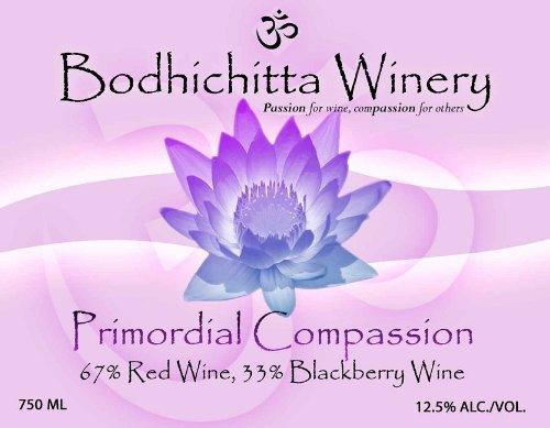 """Bodhichitta Winery """"Primordial Compassion"""" Oregon Cabernet Sauvignon/Blackberry Wine Blend 750Ml"""