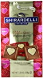 Ghirardelli Limited Edition Valentines Impressions Squares Milk Chocolate, White, 7.33 Ounce