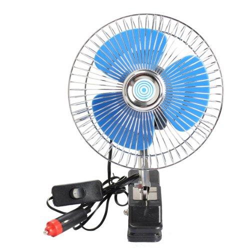 Vktech Portable Cool Summer Vehicle Auto Car Fan Oscillating Car Fan Auto Cooling Fan (12V)