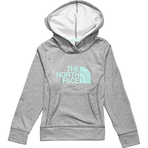 The North Face Surgent Pullover Hoodie - Girls' Heather Grey/Mint Blue, Xxs(5)