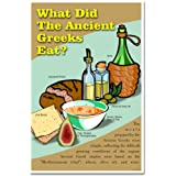 World History, What the the Ancient Greeks Eat? Classroom Poster