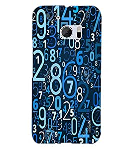 HTC ONE M10 DIGITS Back Cover by PRINTSWAG