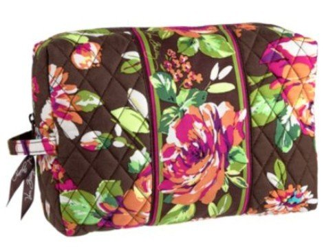 Vera Bradley Large Cosmetic in English Rose