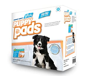 Mednet Direct 30'' x 30'' X-Large ULTRA Puppy Pads - 100 Count