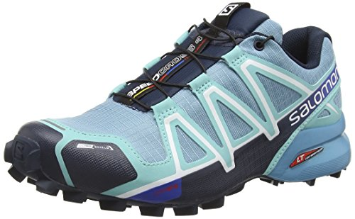 Salomon Speedcross 4 CS Shoe - Women's Blue Gum / Bubble Blue / Deep Blue 8 (Speedcross Cs Salomon compare prices)