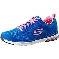 Skechers Women's Skech-Air Infinity Blue and Hot Pink Sneakers - 6 UK/India (39 EU) (9 US)