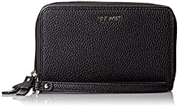 Nine West Table Treasure Double Zip Wallet, Black, One Size