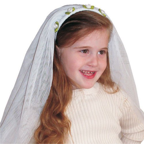 Kids-Adorable-White-Bride-Veil-By-Dress-Up-America