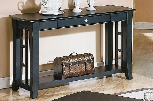 Steve Silver Cassidy Black Sofa Table