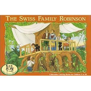 Swiss Family Robinson Coloring Book NanaBanana Classics