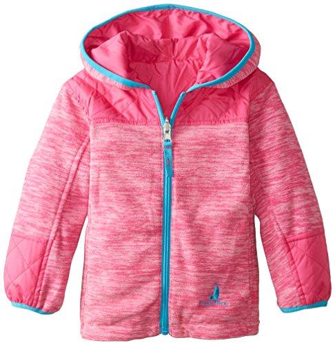 rugged bear little girls 39 quilted fleece reversible jacket. Black Bedroom Furniture Sets. Home Design Ideas