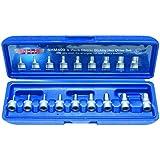 Vim Tools SHM400 9 Piece 1/4-Inch Drive Metric Stubby Hex Bit Set