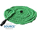 Expandable Hose 75 Feet Green, No Kinking, Flexible, Lightweight, Super Strong, Superior to As Seen On TV Pocket Hose, Flex-Able Hose, Magic Hose, Shrinking Hose, DAP Xhose, Flexable Hose, Expands to 3 Times it's Original Length, Water Garden, Plants, Grass, No Tangle, Twist, Kink, Expands and Contracts, Holiday, Christmas Gift, Auto, Car, RV, Boat, Dock