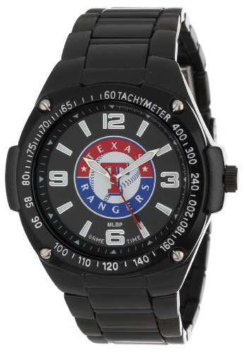Game Time Unisex Mlb-War-Tex Warrior Texas Rangers Analog 3-Hand Watch front-596732