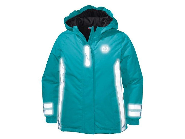 Kinder Mädchen Reflektorjacke 360 ° hellblau Gr. 122 / 134 / 140 / 146 wählbar Übergangsjacke Reflektorjacke Jacke online bestellen