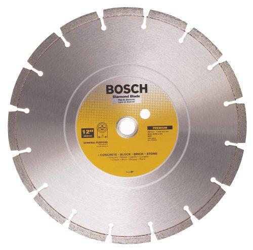 Bosch DB1241 Premium Plus 12-Inch Wet Cutting Segmented Diamond Saw Blade with 1-Inch Arbor for Masonry