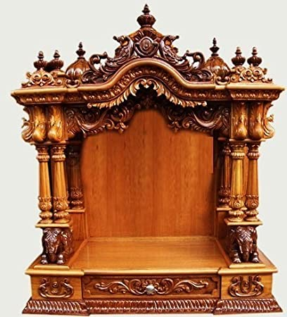 Shilpi Handcrafted Wooden Home Temple Wooden Temple