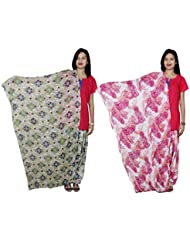 Indistar Women's Cotton Patiala Salwar With Dupatta Combo (Pack Of 2 Salwar With Dupatta) - B01HRONOZO