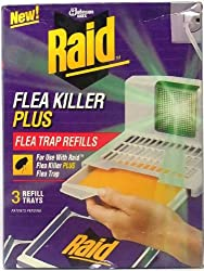 3 Refills Trays of Raid Flea Killer Plus