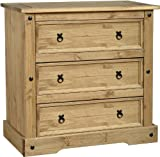 Corona 3-Drawer Wide Chest