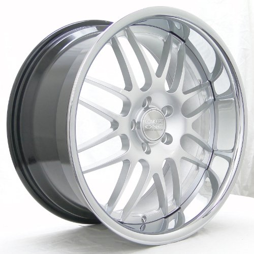 Concept One RS-8 (Series 701) Hyper Silver with Chrome Lip - 19 x 8.5 Inch Wheel